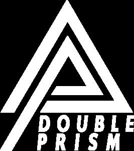logo double prism white