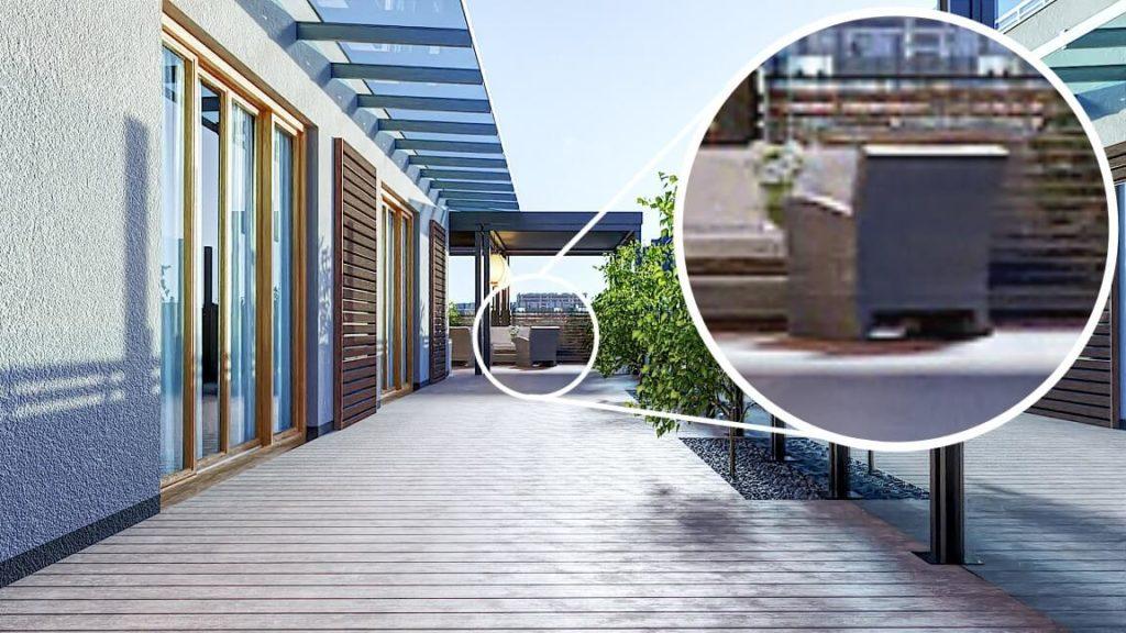 Wizualizacja 3D prezentująca piksele na obrazku