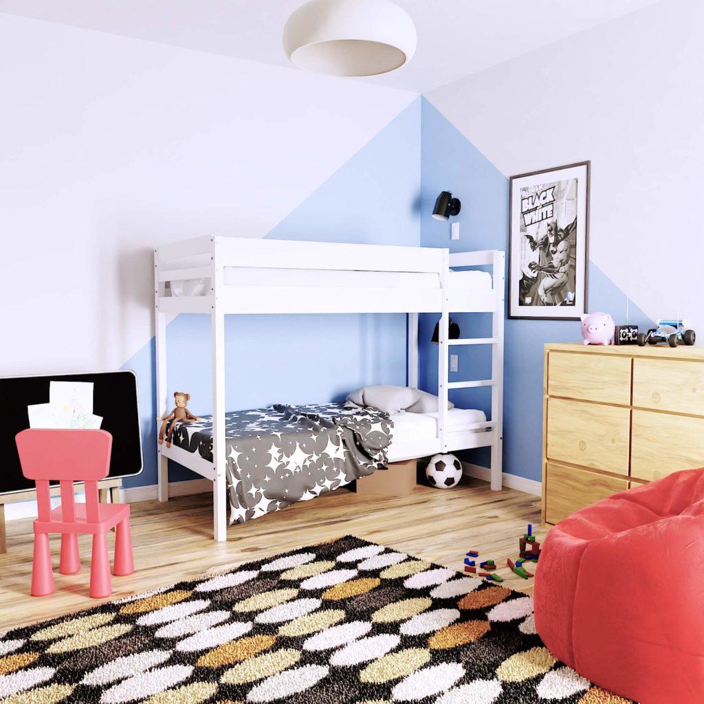 wizualizacja łóżka dziecięcego w wysokiej rozdzielczości